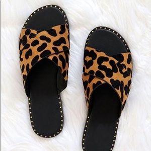 PREORDER: Kazen Sandals- Leopard/Black